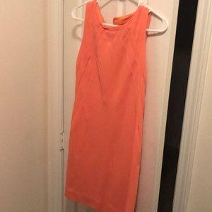 DVF Orange/coral sheath dress size 6
